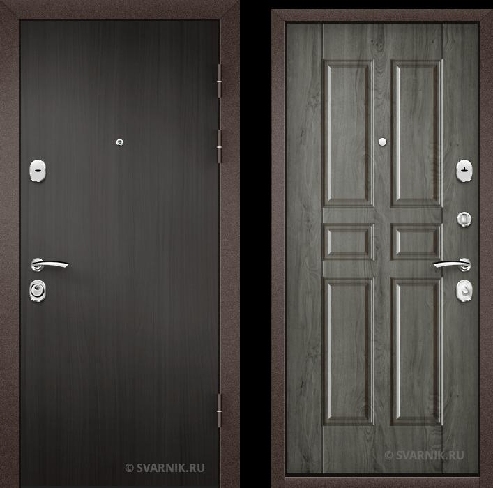 Дверь металлическая российская в дом ламинат - МДФ