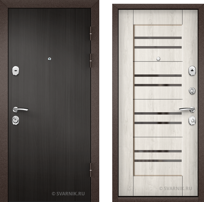 Дверь металлическая внутренняя в офис ламинат - винорит