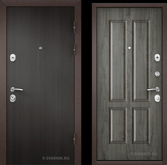 Дверь металлическая правая уличная ламинат - шпон