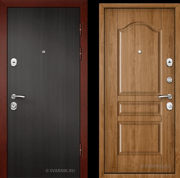 Дверь металлическая вторая в квартиру ламинат - шпон