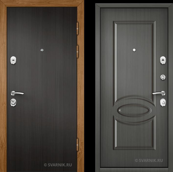 Дверь металлическая с терморазрывом в квартиру ламинат - винорит