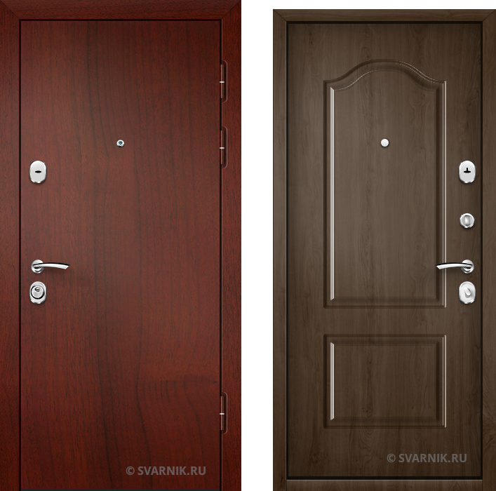Дверь входная трехконтурная в дом ламинат - массив