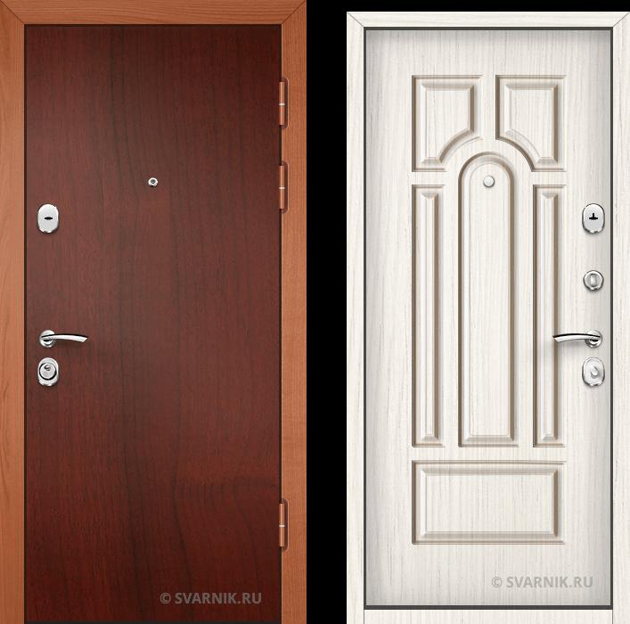 Дверь металлическая вторая в дом ламинат - шпон