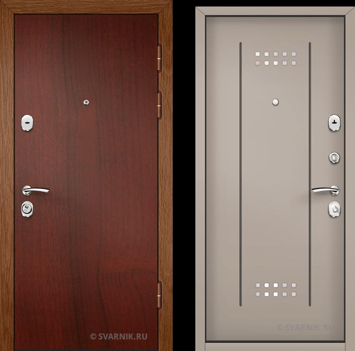 Дверь металлическая наружная в коттедж ламинат - МДФ