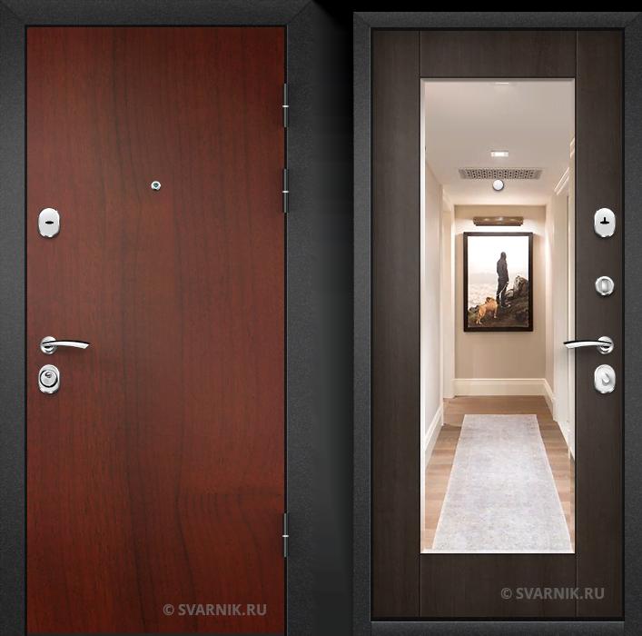Дверь металлическая с шумоизоляцией в квартиру ламинат - шпон