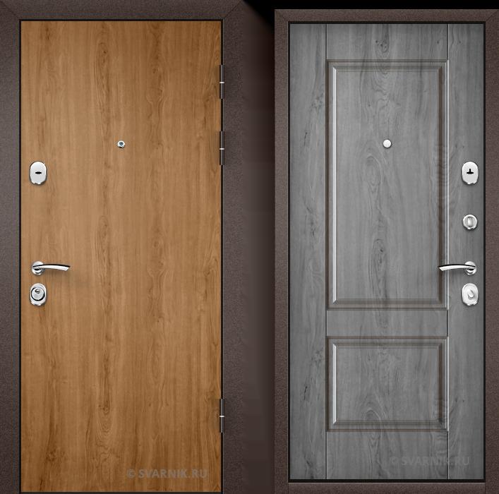 Дверь входная с установкой на дачу ламинат - массив