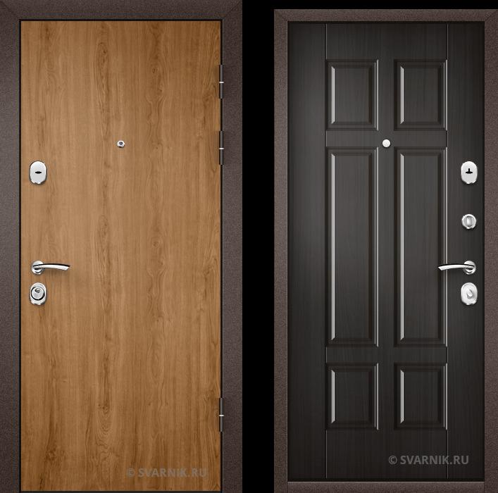 Дверь металлическая с установкой в дом ламинат - шпон