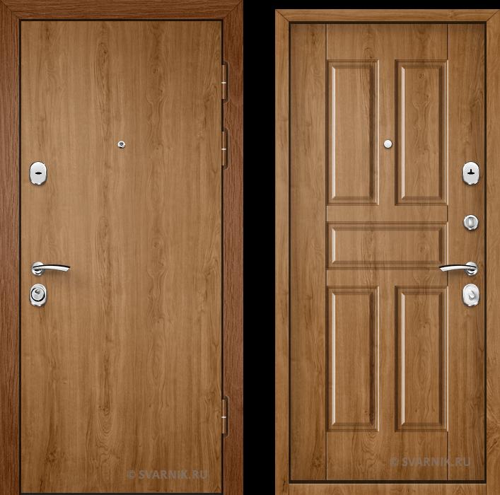 Дверь входная трехконтурная на дачу ламинат - массив
