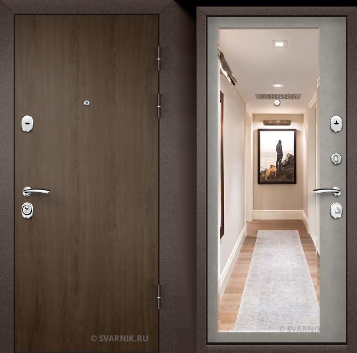 Дверь металлическая под ключ в квартиру ламинат - шпон