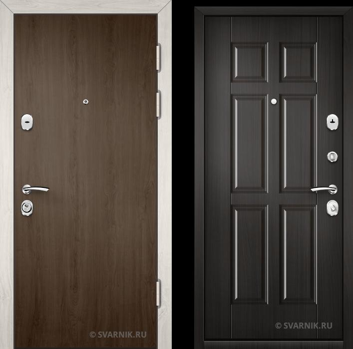 Дверь металлическая наружная уличная ламинат - винорит