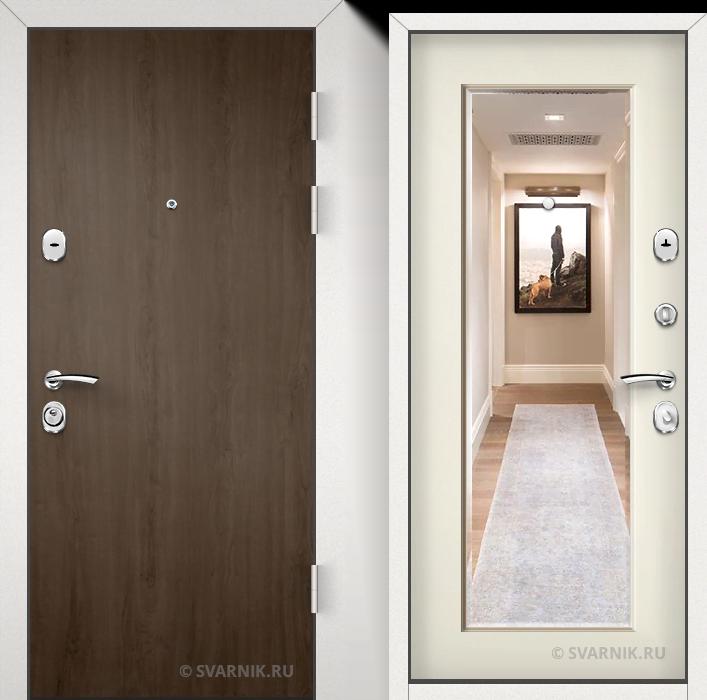 Дверь металлическая усиленная в дом ламинат - МДФ