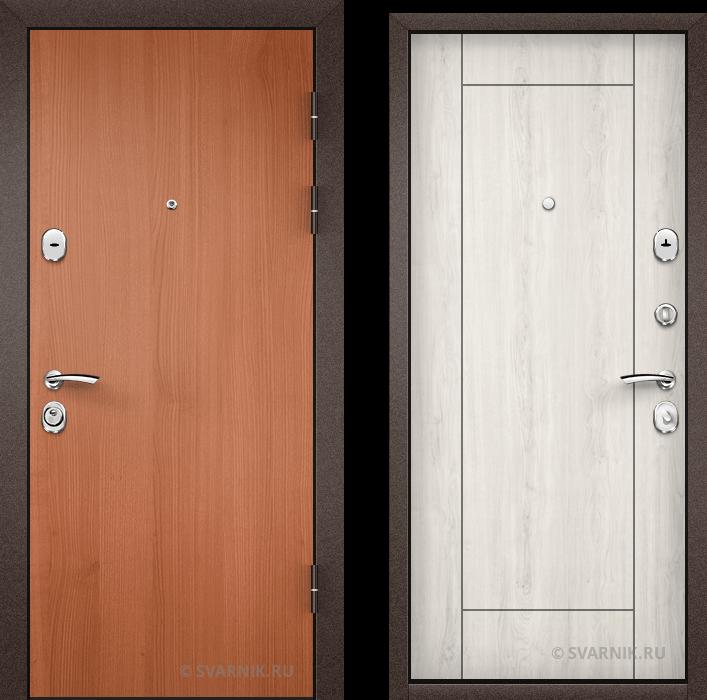 Дверь металлическая российская уличная ламинат - МДФ