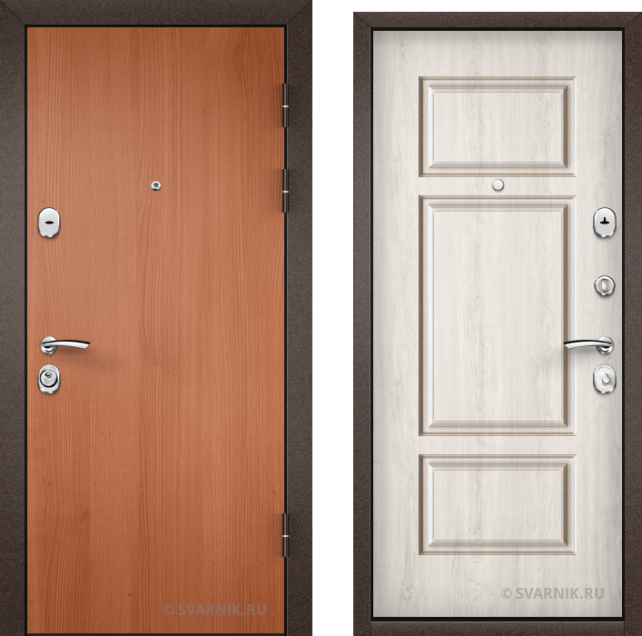 Дверь металлическая с шумоизоляцией в коттедж ламинат - винорит