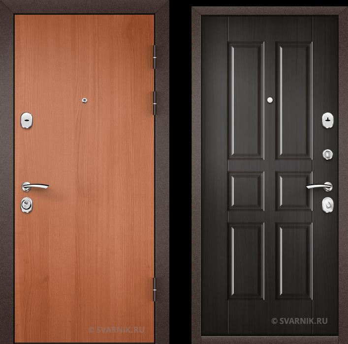 Дверь металлическая трехконтурная в дом ламинат - шпон