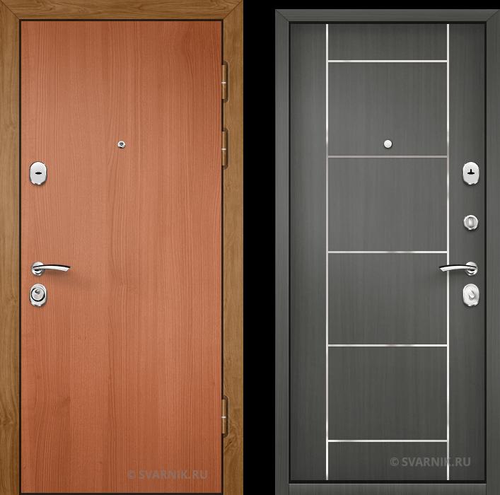 Дверь металлическая с установкой в коттедж ламинат - МДФ