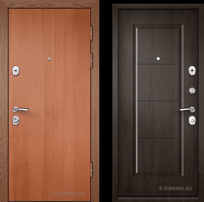 Дверь металлическая утепленная в квартиру ламинат - МДФ