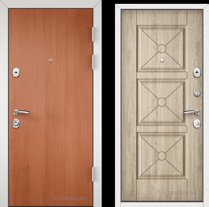 Дверь металлическая усиленная уличная ламинат - шпон