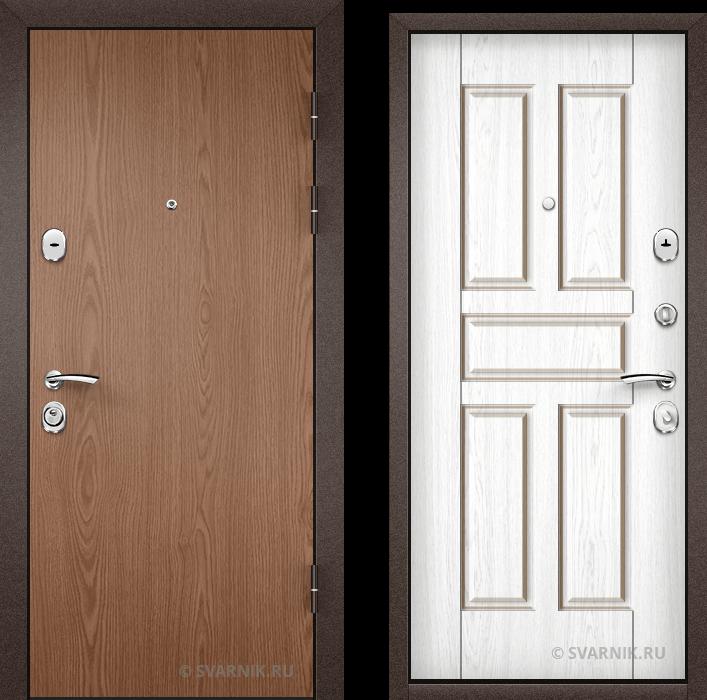 Дверь металлическая с замками KALE в квартиру ламинат - МДФ