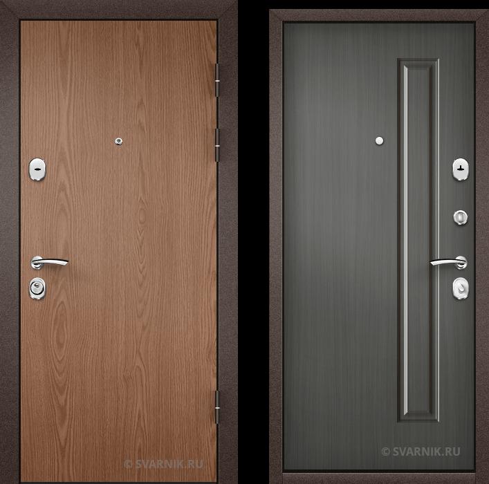 Дверь металлическая вторая в офис ламинат - МДФ