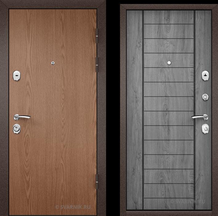 Дверь металлическая с замками KALE в офис ламинат - винорит