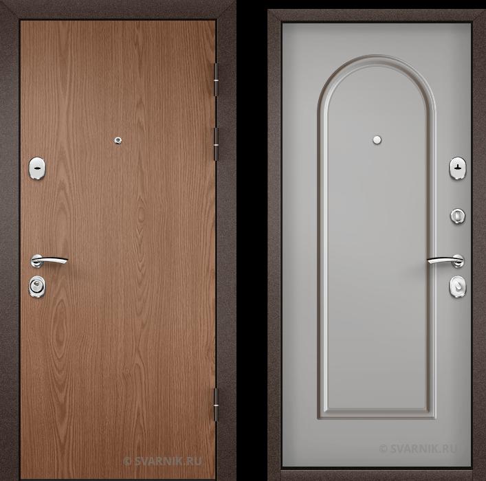 Дверь металлическая наружная на дачу ламинат - МДФ