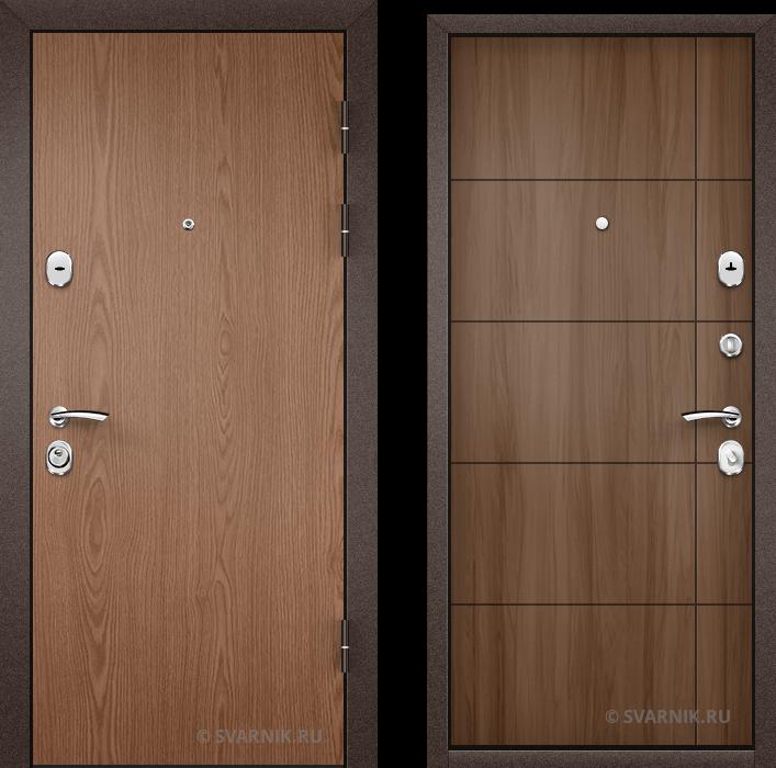 Дверь металлическая с установкой в квартиру ламинат - шпон