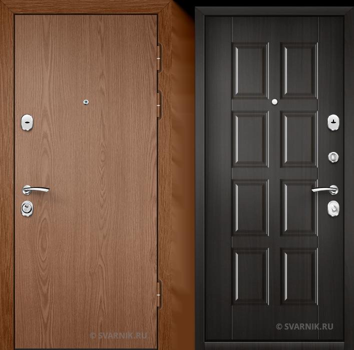 Дверь входная с шумоизоляцией на дачу ламинат - массив