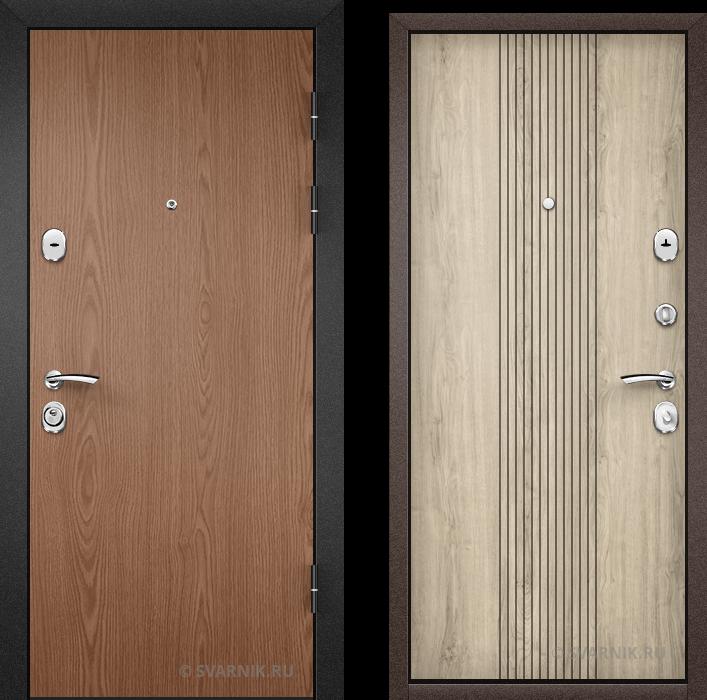 Дверь входная усиленная в офис ламинат - массив
