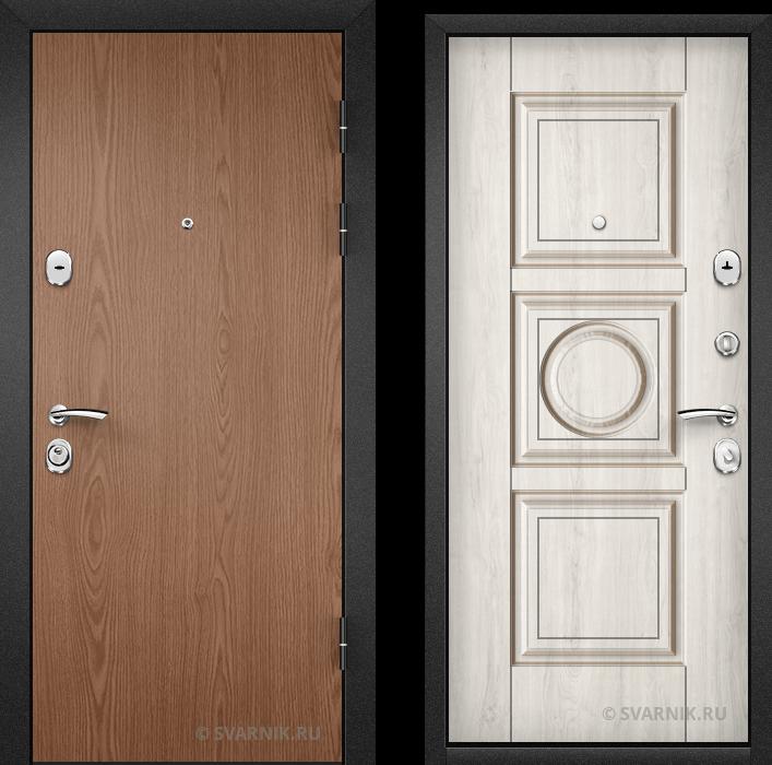 Дверь металлическая российская в квартиру ламинат - шпон