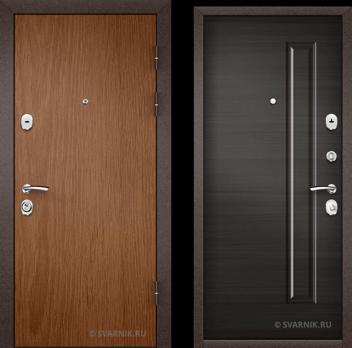 Дверь входная с терморазрывом в дом ламинат - массив