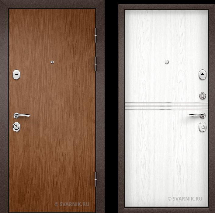 Дверь металлическая под ключ уличная ламинат - шпон