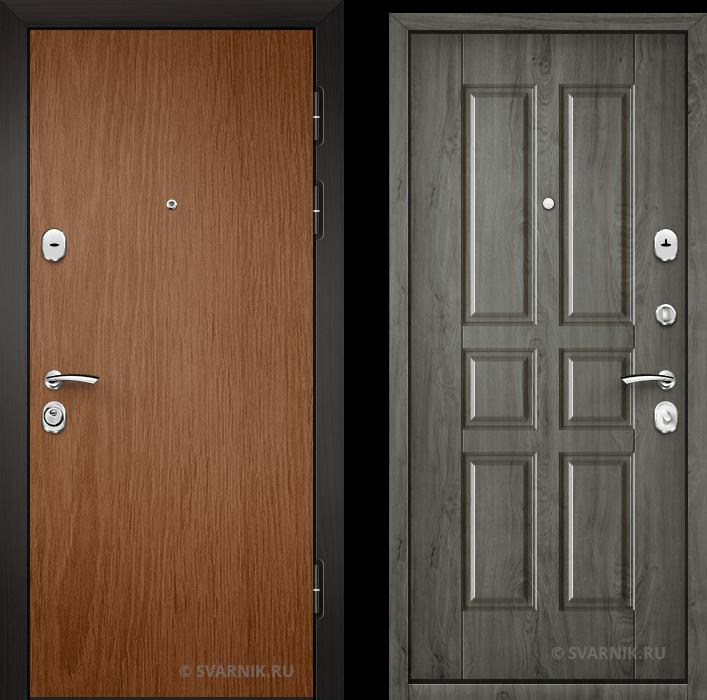 Дверь входная наружная в коттедж ламинат - массив
