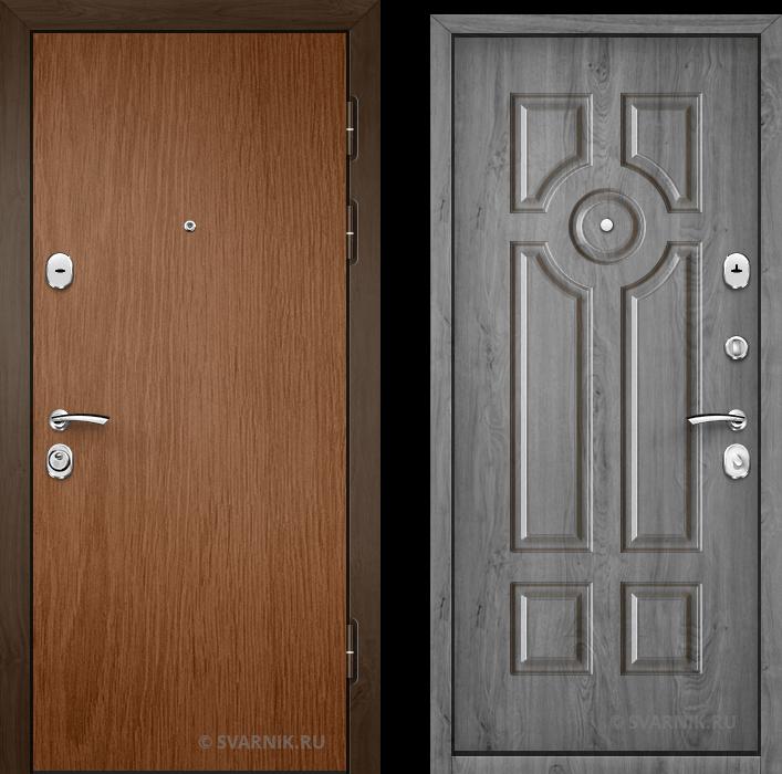 Дверь металлическая усиленная в офис ламинат - МДФ