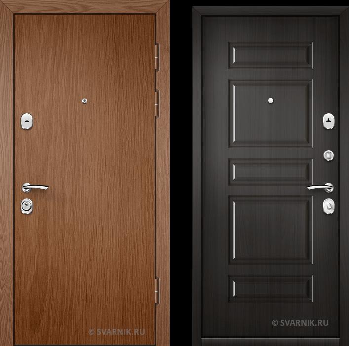 Дверь металлическая внутренняя уличная ламинат - МДФ