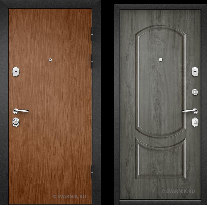 Дверь металлическая российская в офис ламинат - шпон