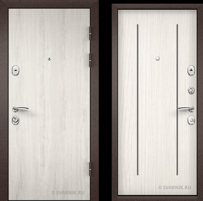 Дверь входная усиленная в дом ламинат - массив