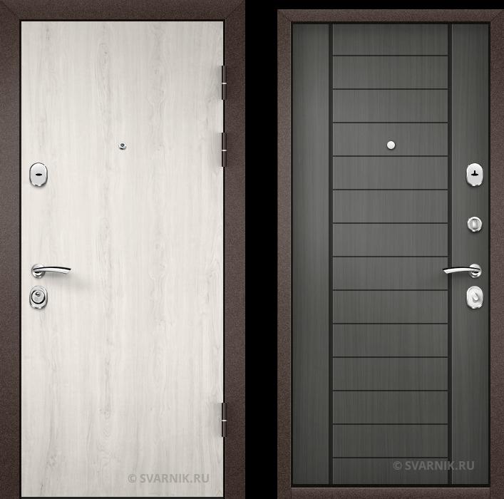 Дверь металлическая с шумоизоляцией в коттедж ламинат - МДФ
