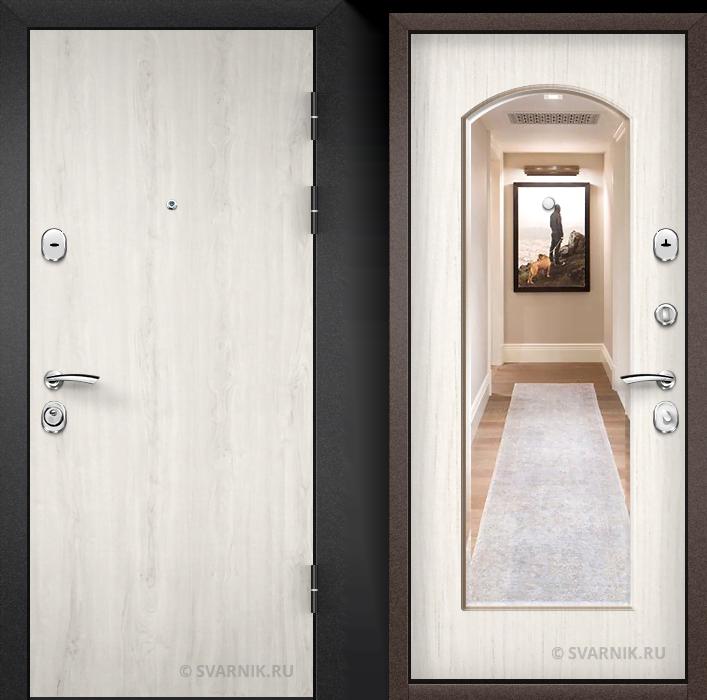 Дверь входная наружная в офис ламинат - массив