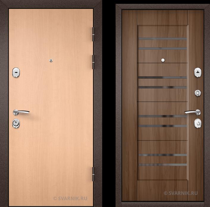 Дверь металлическая трехконтурная в квартиру ламинат - винорит