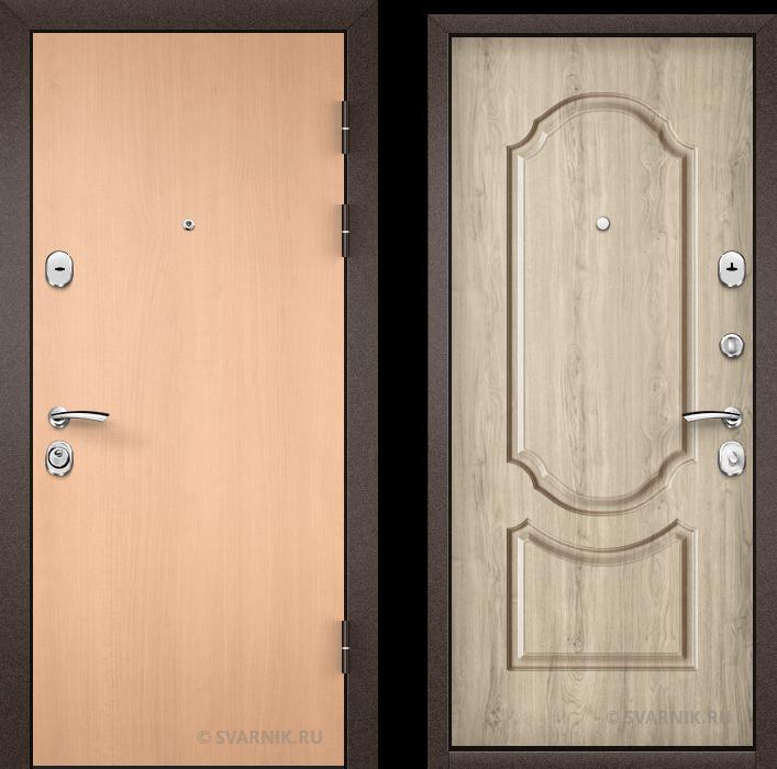 Дверь металлическая усиленная в квартиру ламинат - винорит