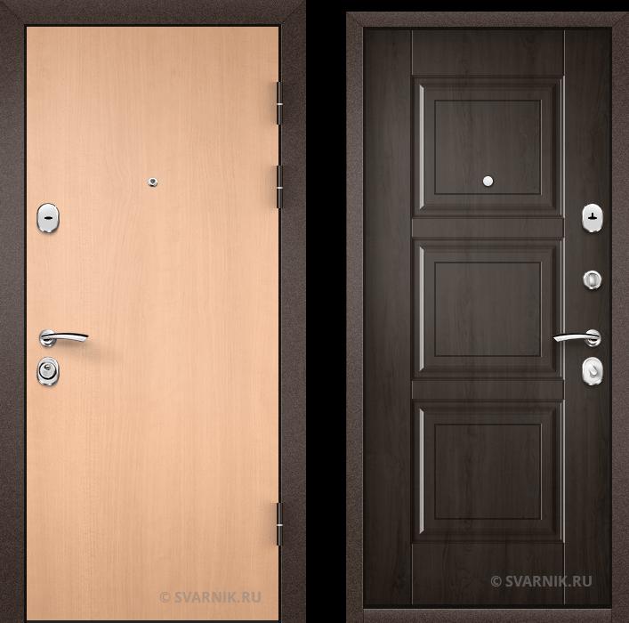 Дверь входная под ключ в офис ламинат - массив