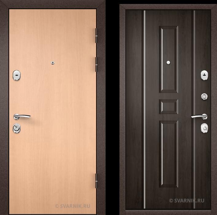 Дверь металлическая с терморазрывом в офис ламинат - винорит