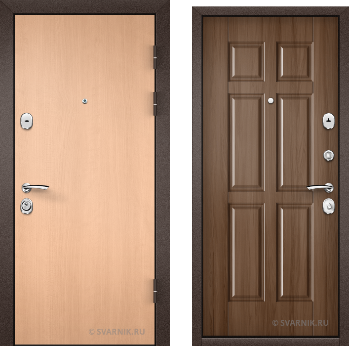 Дверь входная с шумоизоляцией в офис ламинат - массив