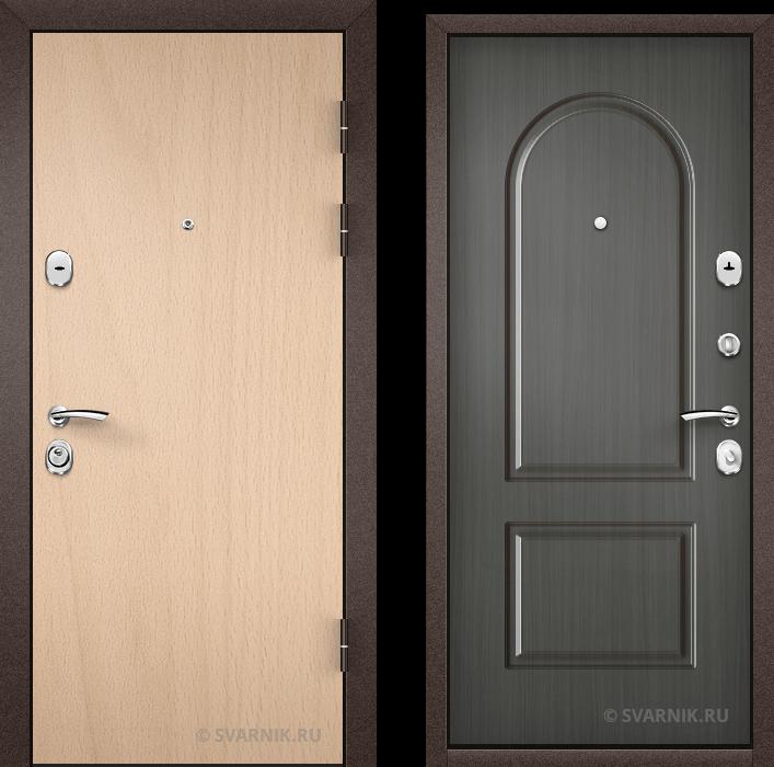 Дверь металлическая с установкой в квартиру ламинат - МДФ