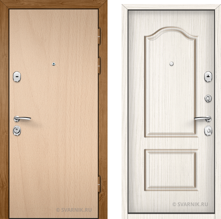 Дверь металлическая вторая в дом ламинат - МДФ