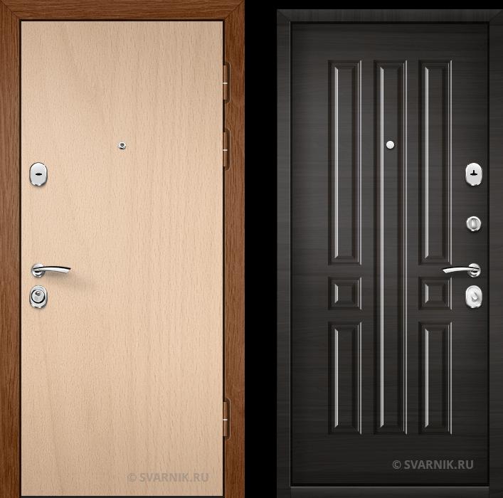 Дверь металлическая внутренняя уличная ламинат - шпон