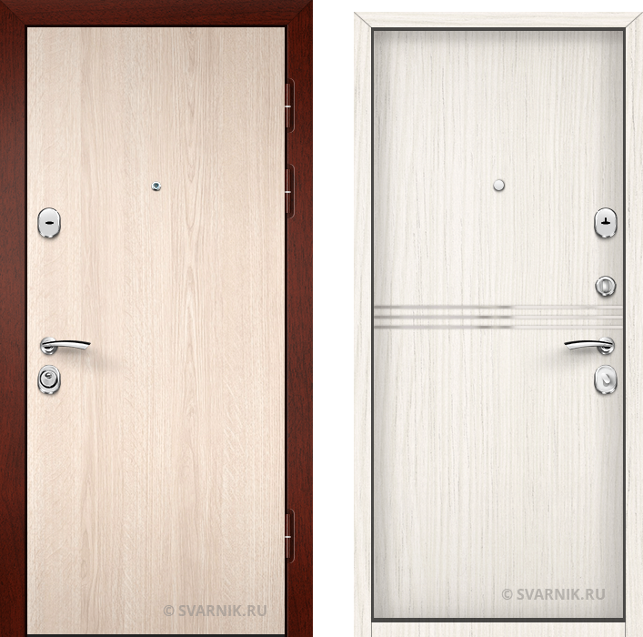 Дверь металлическая под ключ уличная ламинат - винорит