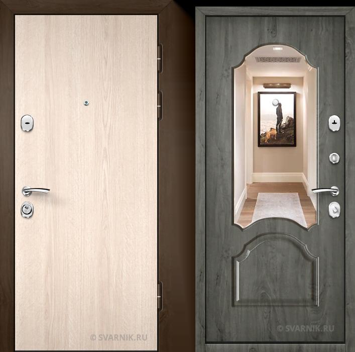 Дверь металлическая с терморазрывом уличная ламинат - винорит