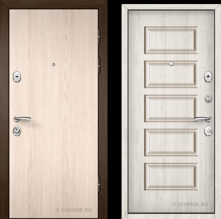 Дверь металлическая наружная в квартиру ламинат - винорит