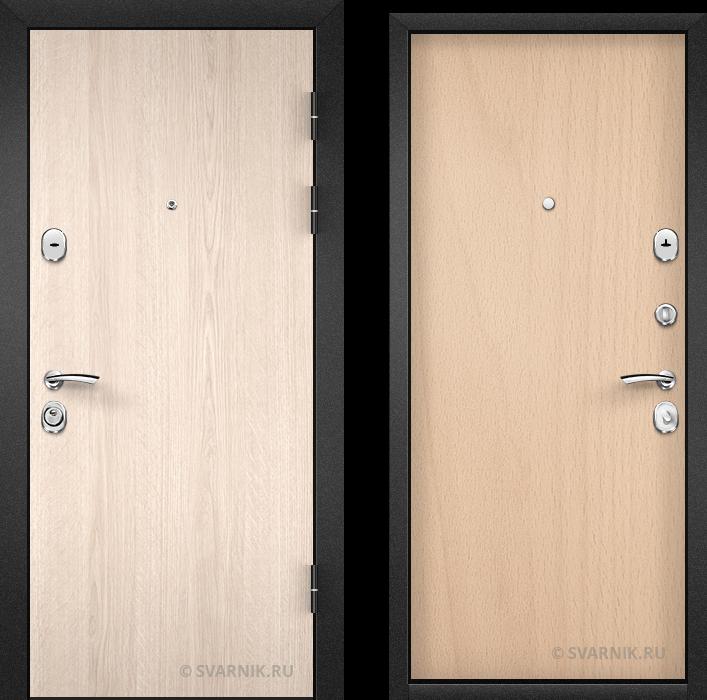 Дверь входная с терморазрывом в коттедж ламинат - ламинат